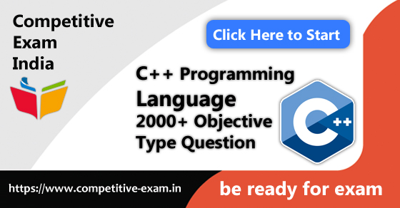 C++ Programming Objective Type Questions | PDF Download