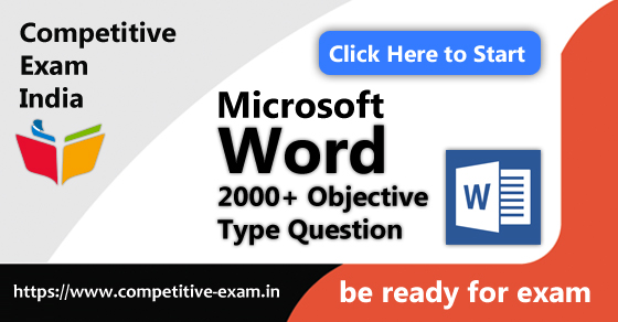 microsoft word objective type questions pdf download 2018 page 1